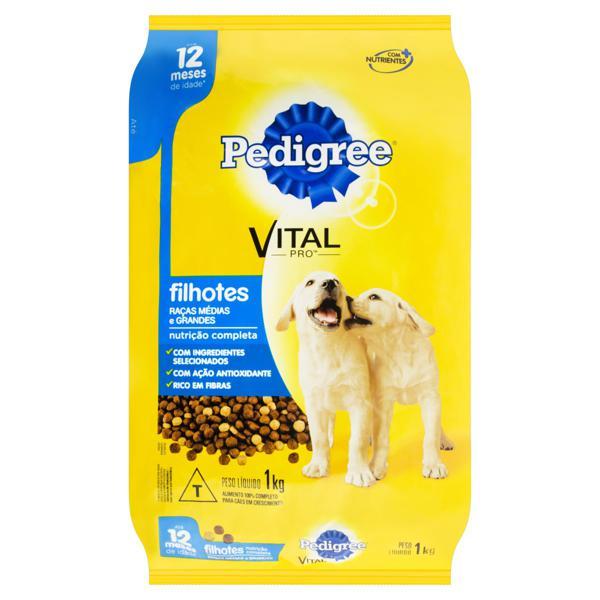 Alimento para Cães Filhotes Raças Médias e Grandes Pedigree Vital Pro Pacote 1kg