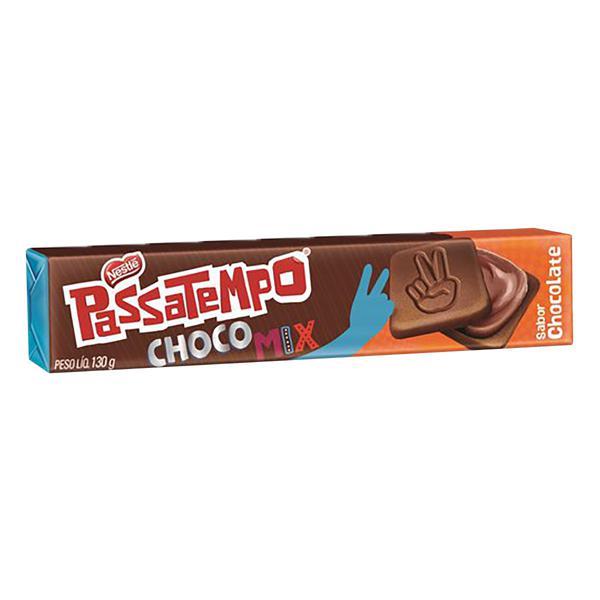 Biscoito Chocolate Recheio Chocolate Nestlé Passatempo Choco Mix Pacote 130g