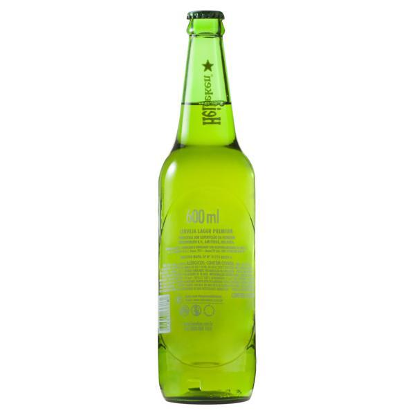 Cerveja Lager Heineken Garrafa 600ml