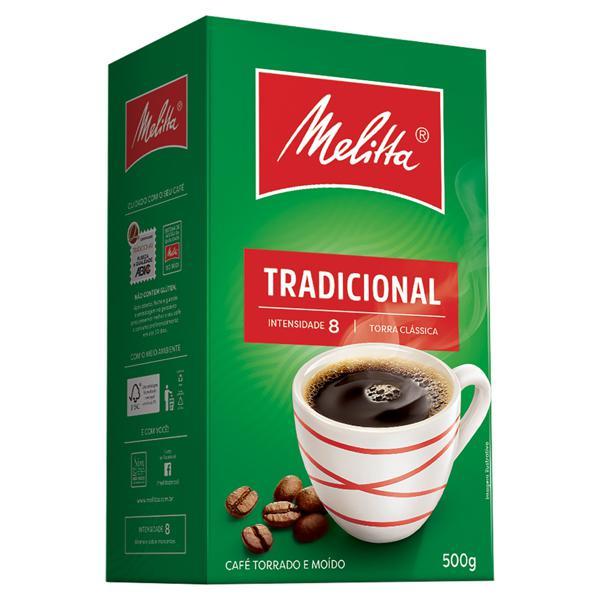 Café Torrado e Moído Tradicional Melitta Caixa 500g