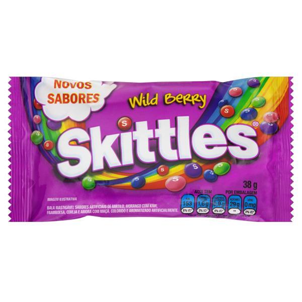 Bala Wild Berry Skittles Pacote 38g