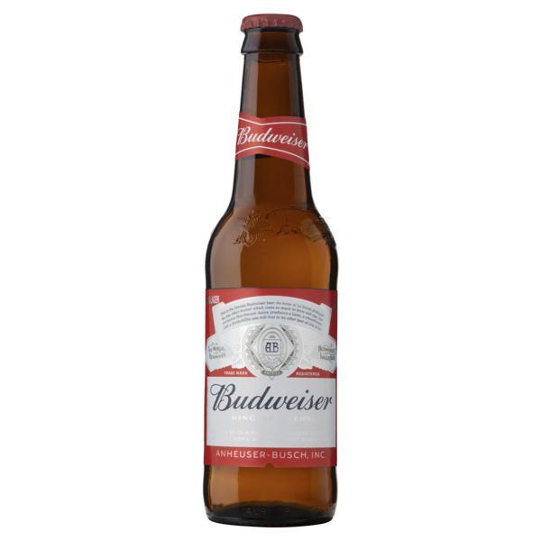 Cerveja Lager Budweiser Garrafa 343ml