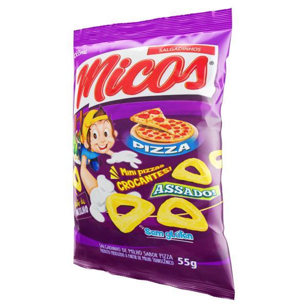 Salgadinho de Milho de Pizza Micos Pacote 55g