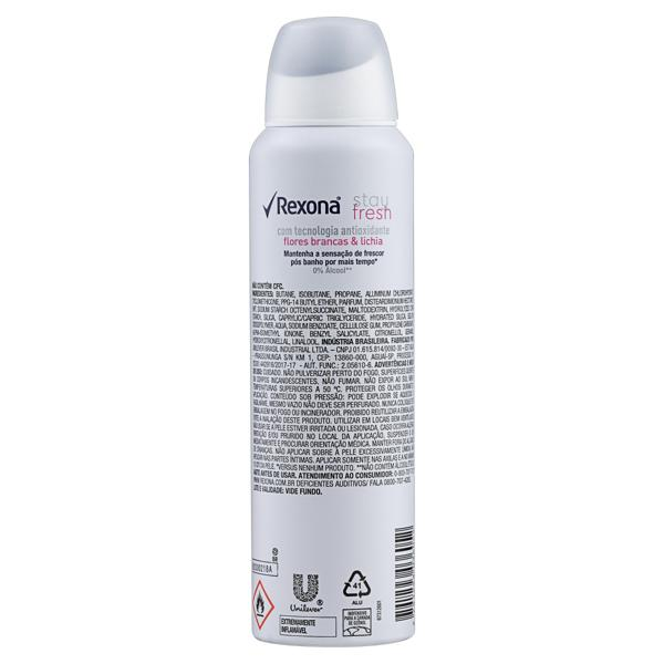 Antitranspirante Aerossol Stay Fresh Flores Brancas & Lichia Rexona Motionsense 150ml