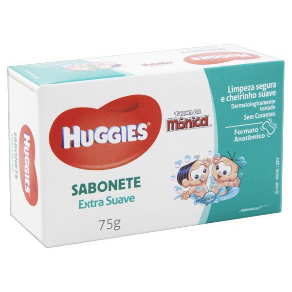 Sabonete Infantil em Barra Extra Suave Huggies Caixa 75g