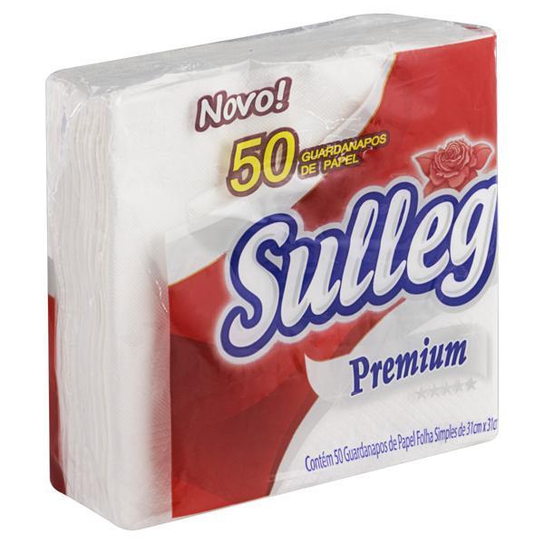 Guardanapo de Papel Folha Simples Sulleg Premium 31cm x 31cm Pacote 50 Unidades