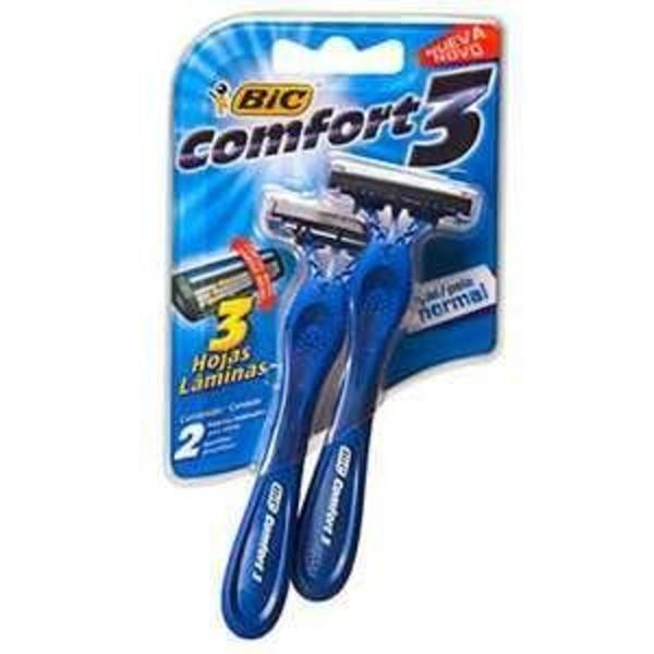 Aparelho de Barbear BIC Comfort 3 Lâminas Normal com 2 unidades