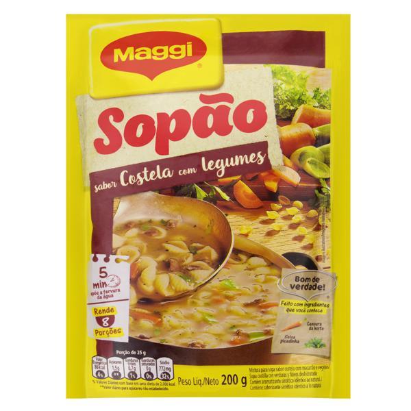 Sopão Costela com Legumes Maggi Pacote 200g