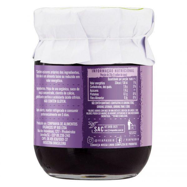 Geleia de uva 100% fruta