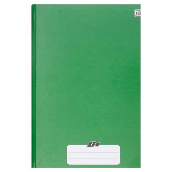 Caderno Capa Dura Brochura Verde Tilibra D+ 200mm x 275mm 96 Folhas