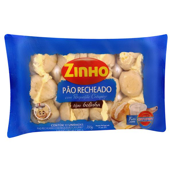 Pão Bolinha Recheio Requeijão Catupiry Zinho Pacote 300g
