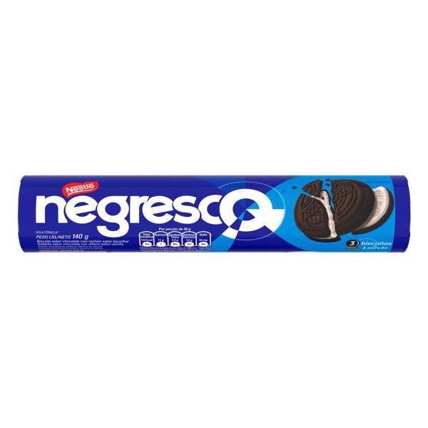 Biscoito Chocolate Recheio Baunilha Nestlé Negresco Pacote 140g