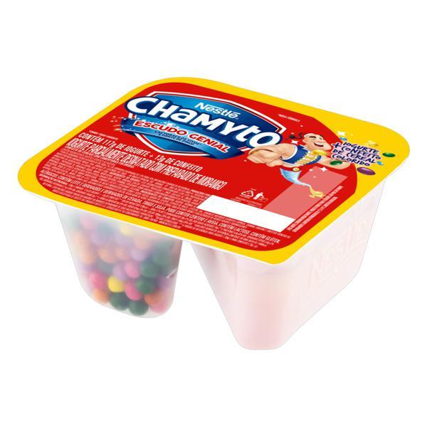 Iogurte Parcialmente Desnatado Morango com Cereais Coloridos Nestlé Chamyto Pote 130g
