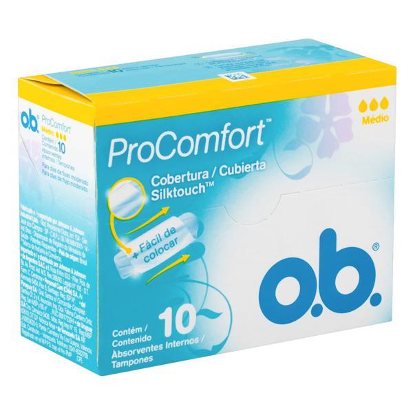 Absorvente Interno O.B. ProComfort Médio Caixa 10 Unidades