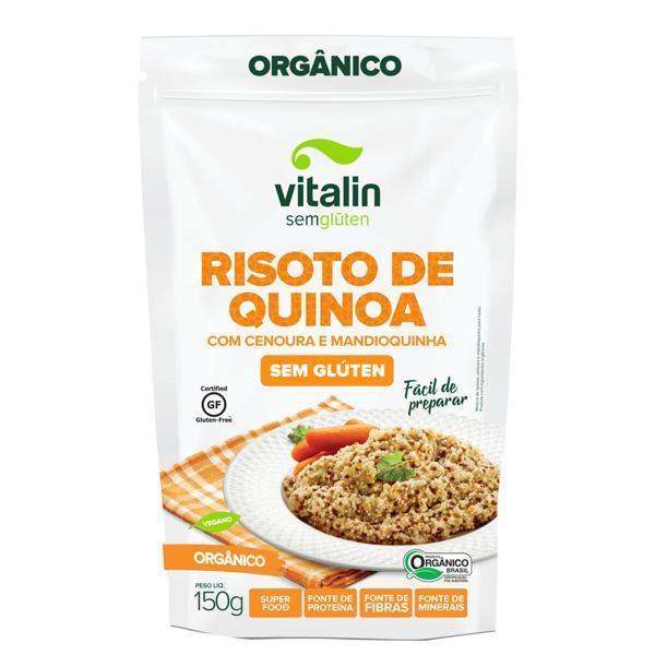Risoto de Quinoa com Cenoura e Mandioquinha