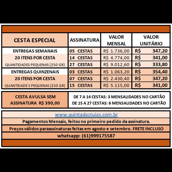 ESPECIAL - 15 ou 27 Cestas