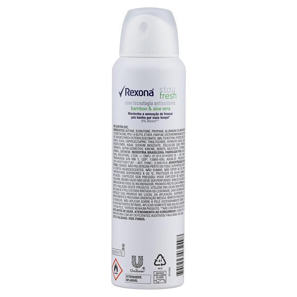 Antitranspirante Aerossol Stay Fresh Bamboo & Aloe Vera Rexona Motionsense 150ml