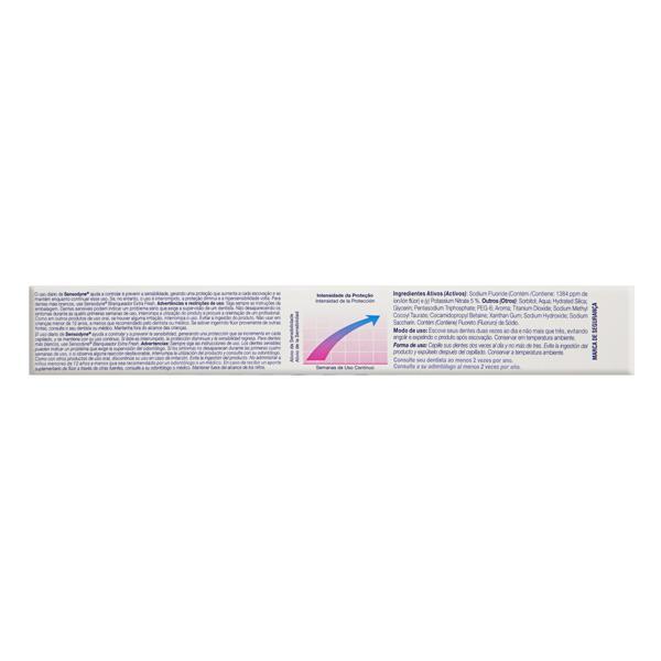 Kit Gel Dental Limpeza Profunda + Creme Dental Branqueador Extra Fresh Sensodyne 90g Cada Grátis 50% de Desconto no Gel