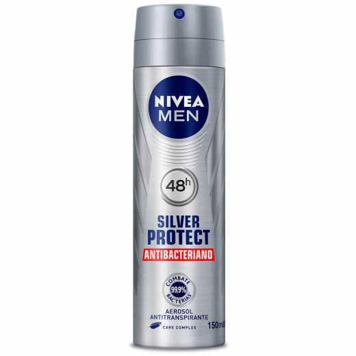 Desodorante Aerosol 150ml Nivea Silver Protect
