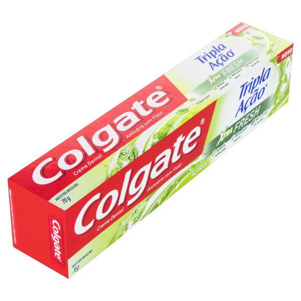 Creme Dental Xtra Fresh Colgate Tripla Ação Caixa 70g