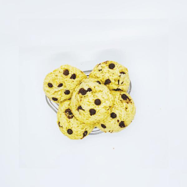 Cookies Vegan Com Gotas De Chocolate 5 Unidades