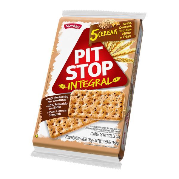 Biscoito Integral PIT STOP Marilan 5 Cereais 162g
