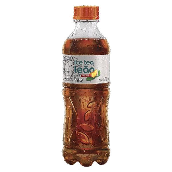 Chá Preto Ice Tea Pêssego Leão Zero Garrafa 300ml