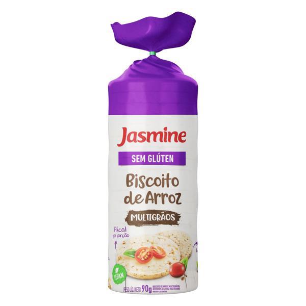 Biscoito de Arroz Multigrãos Jasmine Pacote 90g