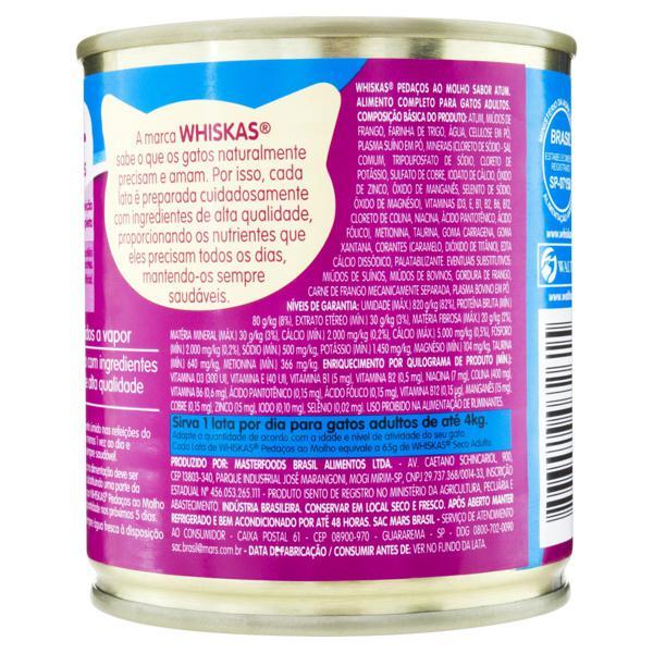 Alimento para Gatos Adultos 1+ Atum ao Molho Whiskas Lata 290g