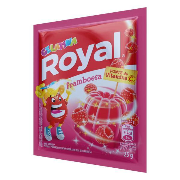 Gelatina em Pó Framboesa Royal Pacote 25g