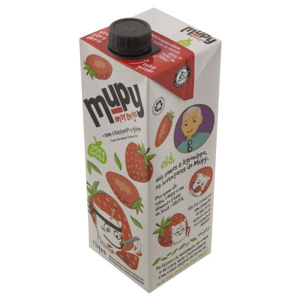 Bebida à Base de Soja Morango Mupy Caixa 1l