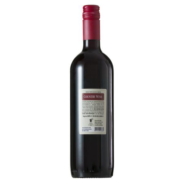 Vinho Brasileiro Tinto Seco Country Wine Serra Gaúcha Garrafa 750ml