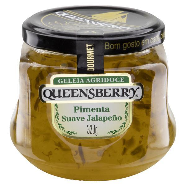 Geleia Agridoce Pimenta Suave Jalapeño Queensberry Gourmet Vidro 320g