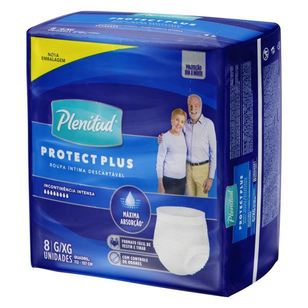Roupa Íntima Descartável Plenitud Protect Plus G/XG Pacote 8 Unidades