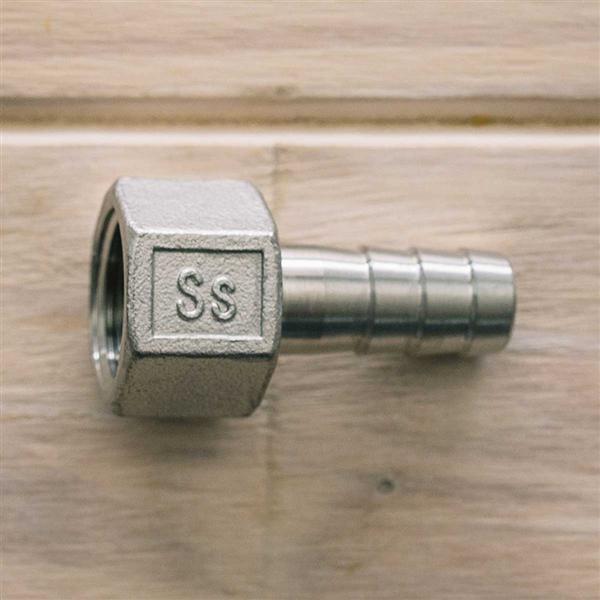 Espigão em Aço Inox 1/2 com Rosca 1/2 FNPT para Sistema de Recirculação Em Panela -
