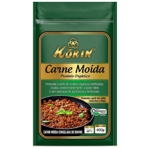 Carne Moída Bovina Orgânica 400g - Korin