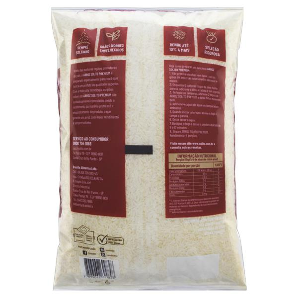 Arroz Branco Tipo 1 Solito Premium Pacote 5kg