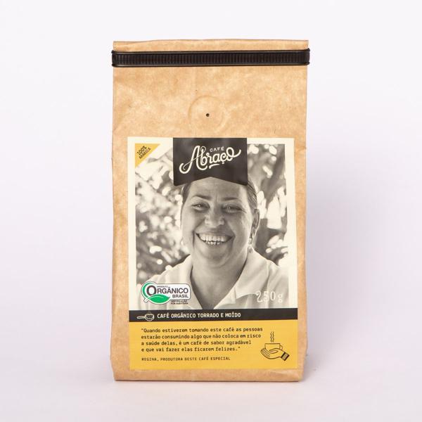Café Orgânico produtora Dayanny, Torrado e Moído 250g - Café Abraço