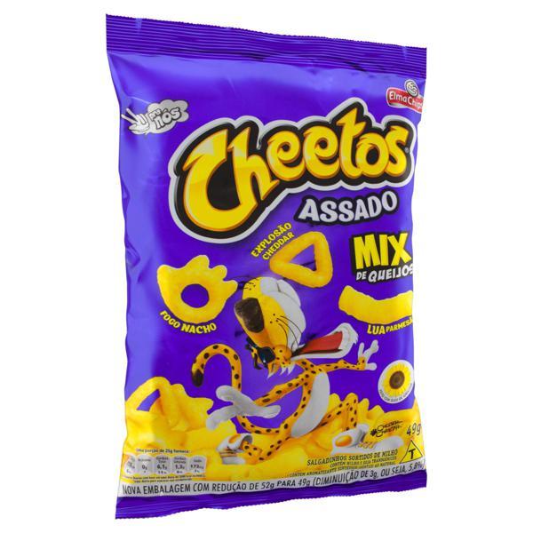 Salgadinho de Milho Sortidos Mix de Queijos Elma Chips Cheetos Pacote 49g