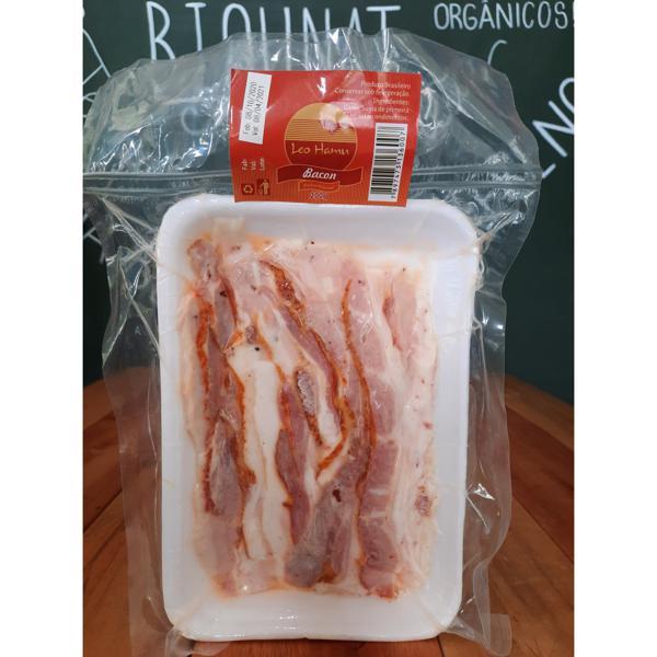 Bacon Artesanal Fatiado Bandeja 200g LEO HAMU