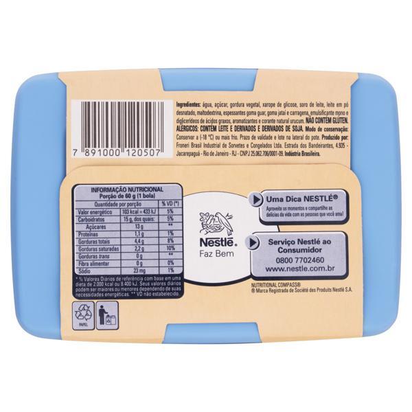 Sorvete Creme Tradicional Nestlé Pote 1,5l