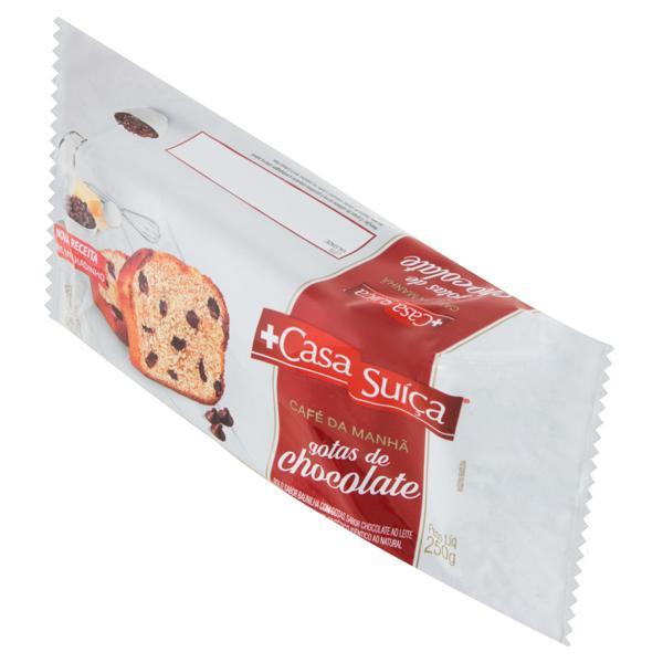 Bolo Baunilha Recheio Gotas de Chocolate Casa Suíça Pacote 250g