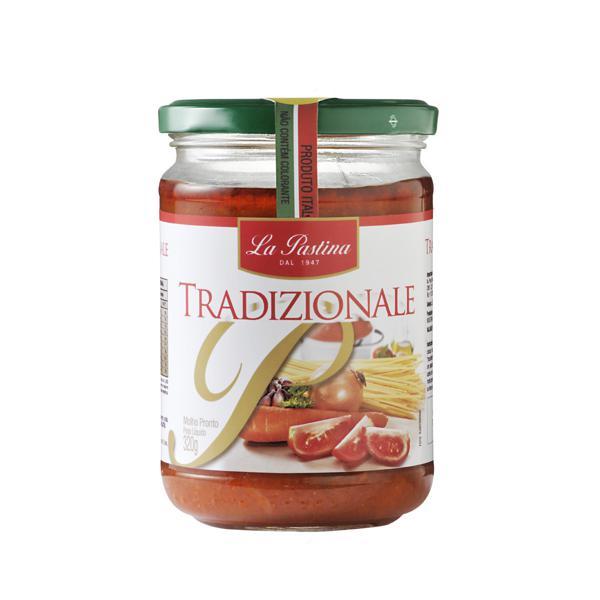Molho de Tomate LA PASTINA Tradicional Vidro 320g
