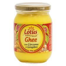 Manteiga Ghee com Cúrcuma e Gengibre Lotus 200g