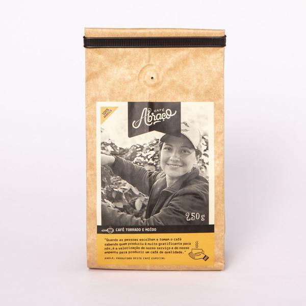 Café produtora Paula, Torrado e Moído 250g - Café Abraço