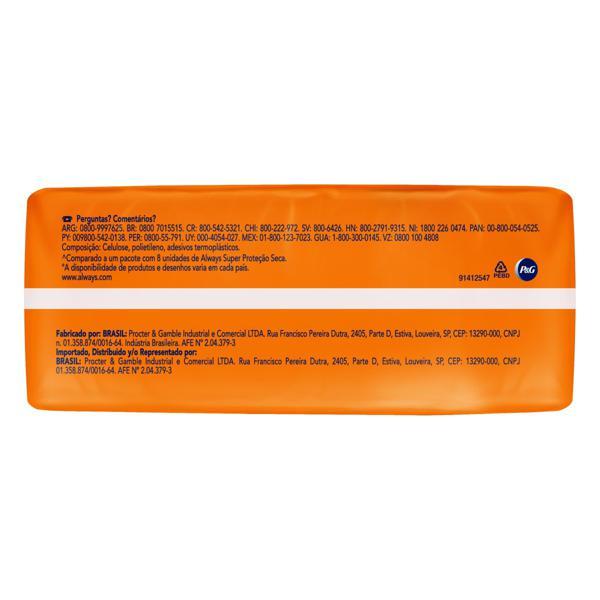 Absorvente com Abas Seca Super Proteção Always Pacote 16 Unidades  Leve Mais Pague Menos
