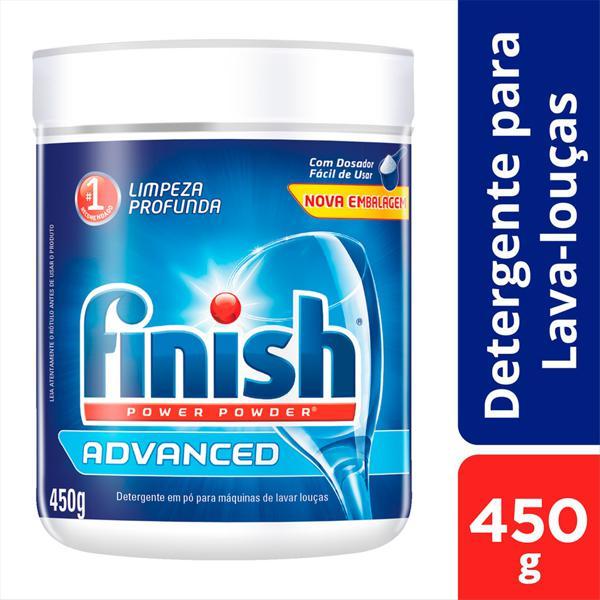 Detergente em Pó para Máquina de Lavar Louças Finish Power Powder Advanced Pote 450g