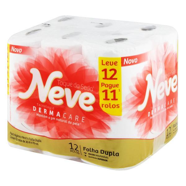 Papel Higiênico Folha Dupla Neutro Neve Toque da Seda 30m Pacote Leve 12 Pague 11 Unidades