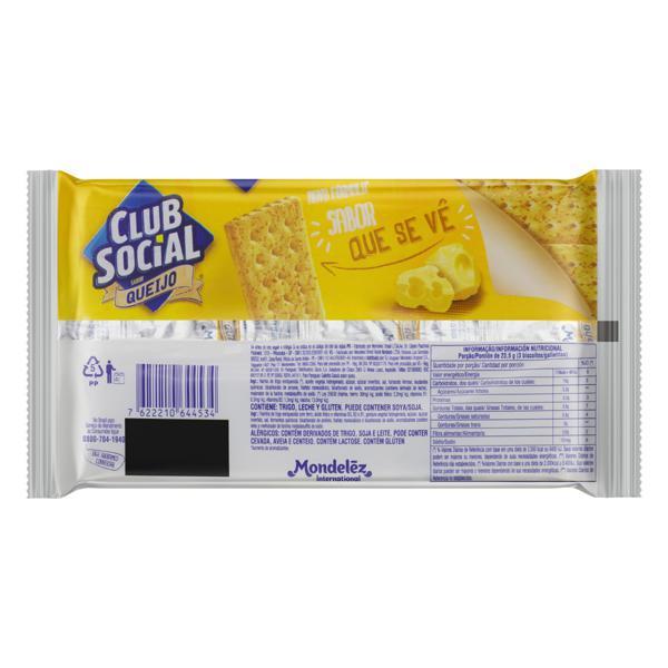 Pack Biscoito Queijo Club Social Pacote 141g 6 Unidades
