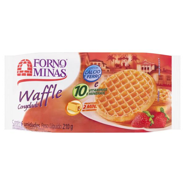Waffle Forno de Minas Pacote 210g 6 Unidades